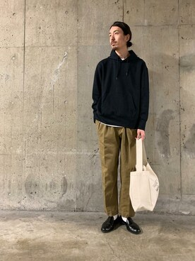 URBAN RESEARCH|UR MENS STAFFさんの「TECH SWEAT HOODIE(URBAN RESEARCH)」を使ったコーディネート