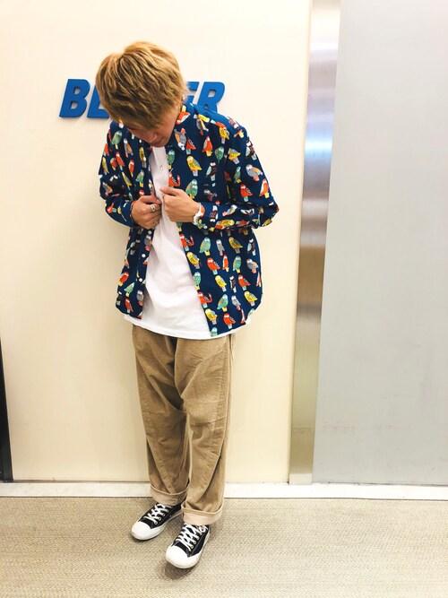 BEAVER池袋店 junnosuke onoさんのパンツ「CAL O LINE /キャルオーライン 別注コーデュロイバレルペインターパンツ(CAL O LINE|キャルオーライン)」を使ったコーディネート