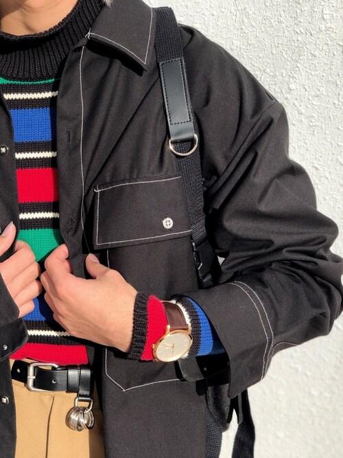 qsssy 「♻︎ RASIC ♻︎」さんの腕時計「THE MINIMALIST 3H FS5463(FOSSIL フォッシル)」を使ったコーディネート