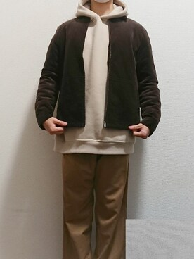 whitekoko1使用「URBAN RESEARCH(CORDUROY ZIP BLOUSON)」的時尚穿搭
