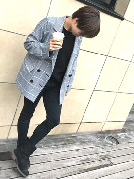 Ayumiさんの「チェック/無地テーラードジャケット(PAGEBOY|ページボーイ)」