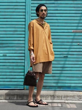 ARKnets Official|ARKnets STAFFさんの「marka / マーカ:HENRY NECK SHIRTS:M18B-03SH02C[COR](marka)」を使ったコーディネート
