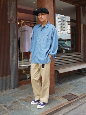 ARKnets Official|ARKnets STAFFさんの「Chambray shirt(FLAG SPORT)」を使ったコーディネート