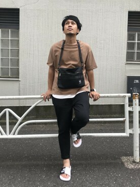 be371ad36e930 Discoat Parisien|DiscoatParisienMensさんのショルダーバッグ「Sacoche Bag(FRED PERRY|フレッド