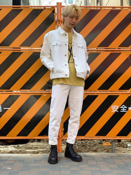 """MIDWEST NAGOYA MEN広原由也さんのTシャツ/カットソー「ksubi """"FANCY CROSS DOLLAR""""ショートスリーブTシャツ(KSUBI スビ)」を使ったコーディネート"""