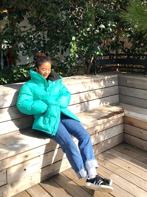 Saturdays NYC TokyoMayuNozawaさんのダウンジャケット/コート「Silas Down Puffer Jacket(Saturdays NYC サタデーズ ニューヨークシティ )」を使ったコーディネート