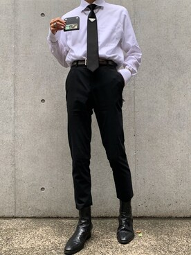 classic fit c99aa 6f6b6 PRADA(プラダ)のスーツ/ネクタイを使ったコーディネート一覧 ...