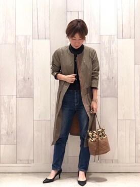 www.Q shop.jp Qひたちなかファッションクルーズ店|マイコバさんの「シンプルライダースコート(Q|キュー)」を使ったコーディネート