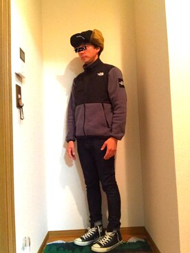 d✴︎584_officialさんの「THE NORTH FACE/ザノースフェイス Denali Jacket/デナリジャケット(THE NORTH FACE)」を使ったコーディネート