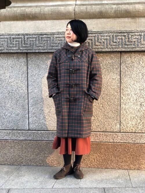 Bshop 神戸本店nagaiさんのニット/セーター「【MORRIS&SONS】ジーロンラム タートルネックセーター WOMEN(Morris & Sons|モリスアンドサンズ)」を使ったコーディネート