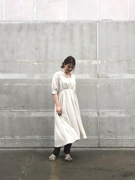 d0730510f5a3d ハイネックギャザーワンピースを使ったコーディネート (1). UNITED TOKYO FUKUOKA|Aya Ishibashiさんのコーディネート