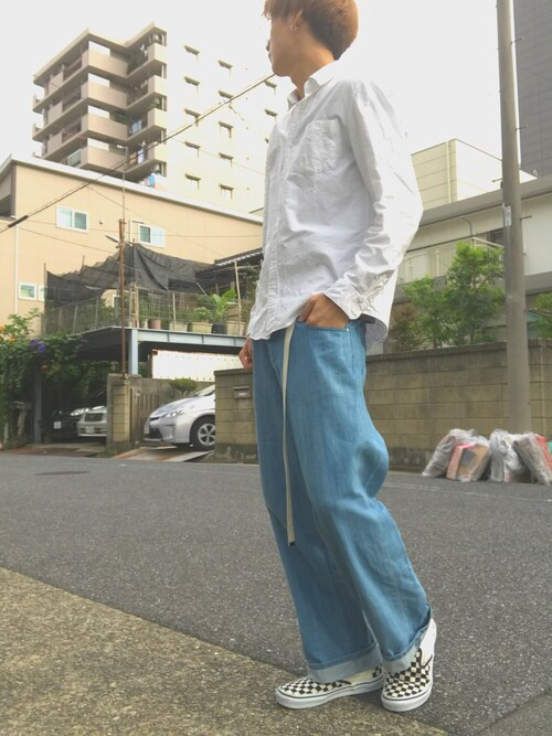 _Yuki Koeda@相互フォローさんの「VANS ヴァンズ SLIP ON スリッポン V98CLA BLACK/WHT/CHK(VANS)」を使ったコーディネート