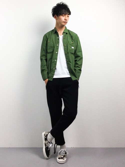 RENさんの「DOORS×Lee Exclusive WORK SHIRTS(URBAN RESEARCH DOORS MENS)」を使ったコーディネート