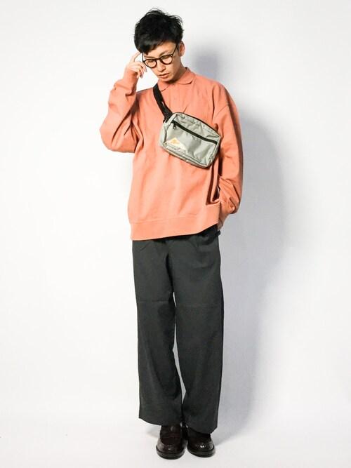 RENさんの「【Begin2月号掲載・WEB限定】BEAMS / NEW STANDARD ルーズフィット ポロシャツ(BEAMS)」を使ったコーディネート