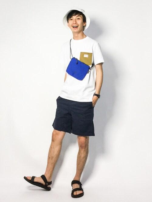 メンズフェスファッションコーデ【野外】 Tシャツ 画像2