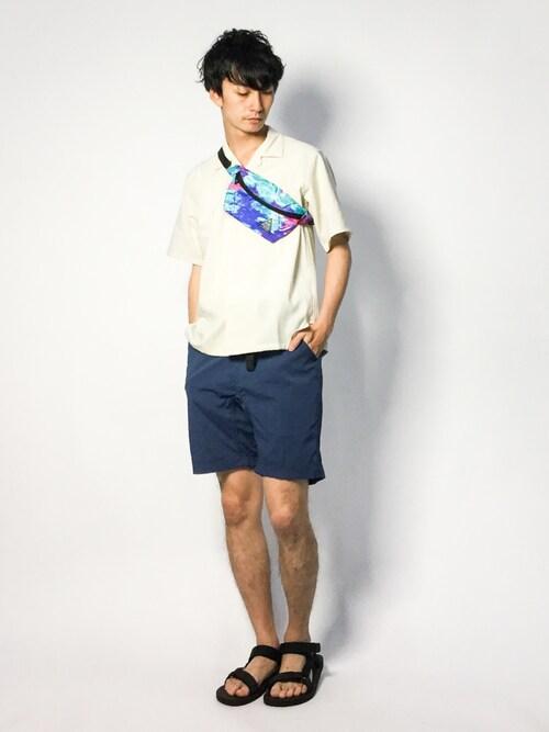 ZOZOTOWNRENさんのシャツ/ブラウス「【EVALET】オープンカラーシャツ #(JOURNAL STANDARD|ジャーナルスタンダード)」を使ったコーディネート