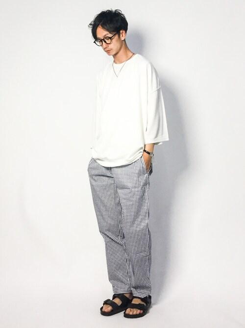 RENさんの「ビッグシルエット プルオーバースウェット(1/2 sleeve)(EMMA CLOTHES)」を使ったコーディネート