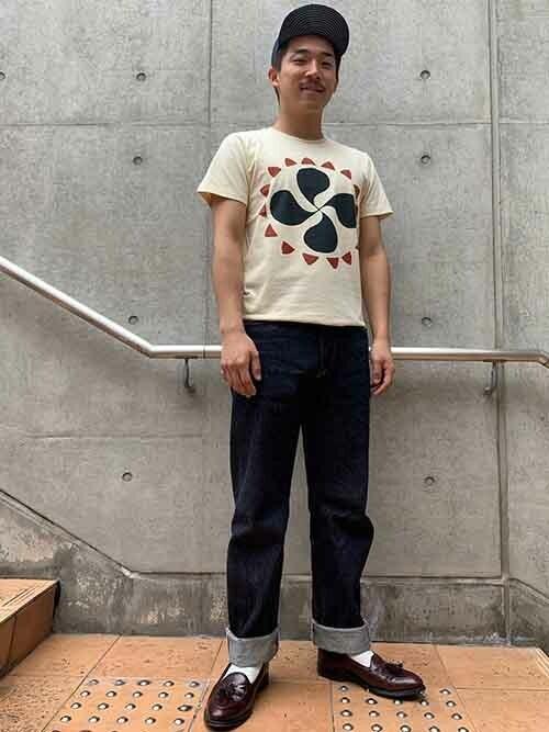 リーバイス STAFF MENさんの「LEVI'S(R) VINTAGE CLOTHING グラフィックTシャツ VILLAGE LAMBSWOOL(Levi's)」を使ったコーディネート