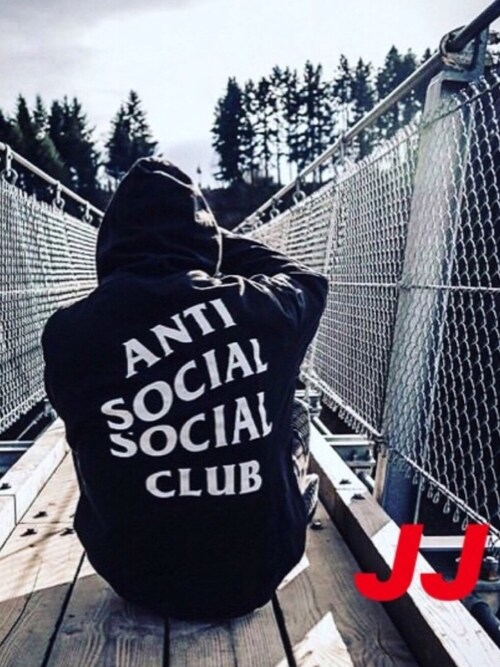 JJ is wearing ANTI SOCIAL SOCIAL CLUB
