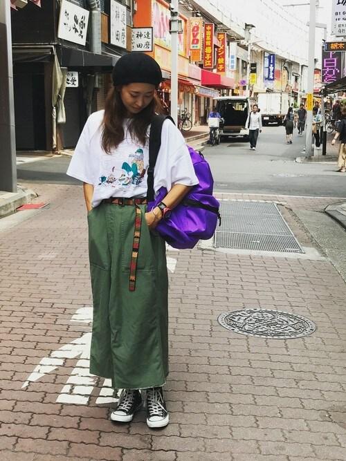 BEAVER上野店 YOSHIHARUさんのTシャツ/カットソー「MANASTASH/マナスタッシュ WS WIENER TIME BIG-T(MANASTASH|マナスタッシュ)」を使ったコーディネート