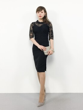 33a75c70fc0c2 ZOZOTOWN|JULIAさんのドレス「hight necked lace dress(My shawty|マイ