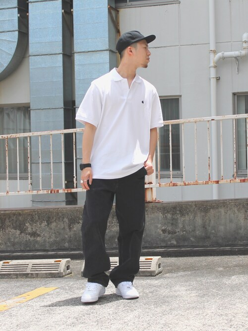Daigoさんの「CARHARTT / カーハート : MADISON ショートスリーブポロシャツ#(Carhartt WIP)」を使ったコーディネート