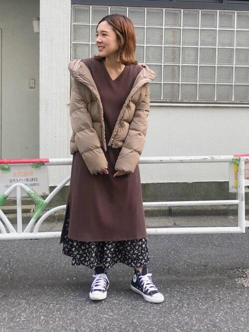 Discoat ParisienCHIHIROさんのダウンジャケット/コート「衿ボリュームショートダウン(Discoat|ディスコート)」を使ったコーディネート