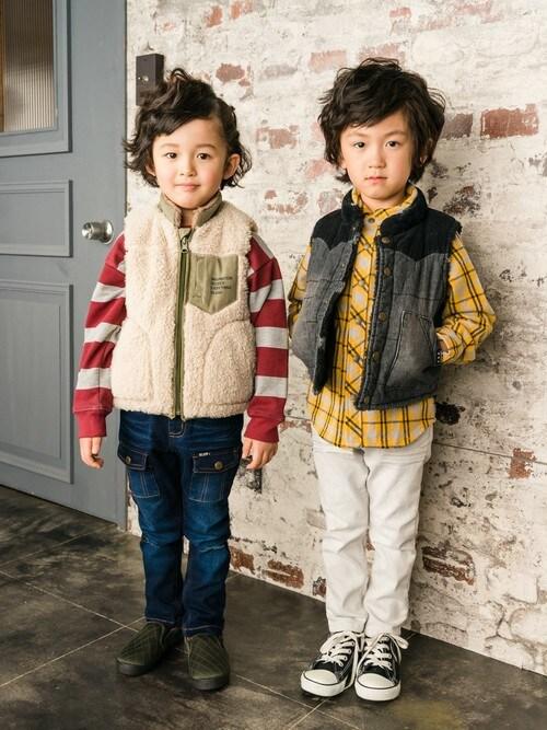 DIL baby & kids shopDIL baby&kids shopさんのベスト「リバーシブルベスト(DILASH|ディラッシュ)」を使ったコーディネート