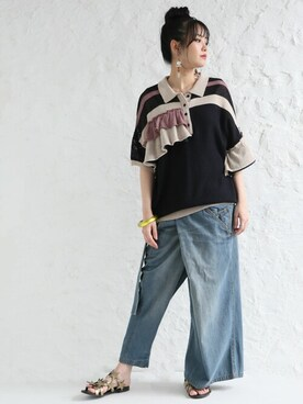 oshare walker zozo店|osharewalkerさんのポロシャツ「(somari|ソマリ)」を使ったコーディネート