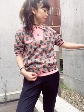 f3e927b1016ed9 ポロシャツ(ピンク系)を使ったレディースコーディネート一覧 - WEAR