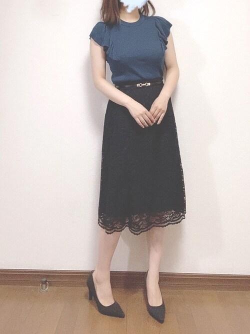 80年代ファッション,ハマトラ,膝丈スカート