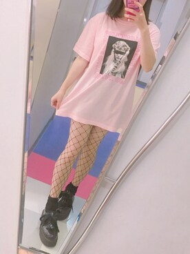 ♡ chihiro ♡さんの「ALONENESS CANDY TEE(Candy Stripper)」を使ったコーディネート