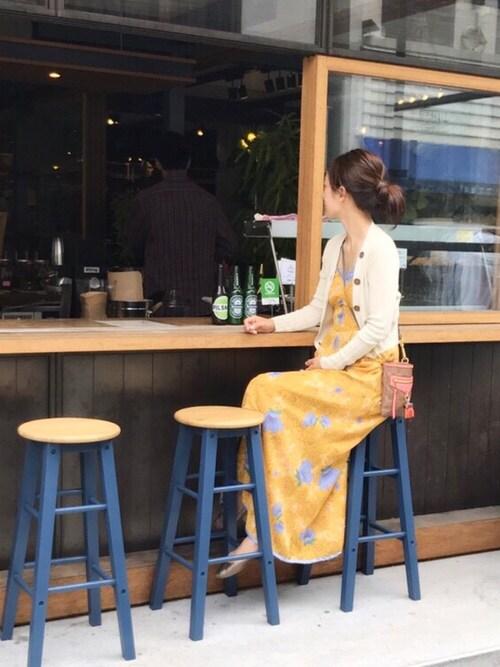 shioriさんの「パイピングフラワーワンピース(Lily Brown)」を使ったコーディネート