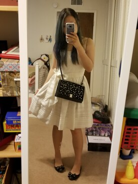 "rui is wearing Kate Spade ""Kate Spade New York Ribbon Organza Bow Dress"""
