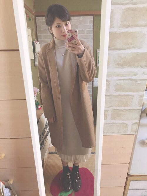 ユニクロ ダブル フェイス コクーン コート