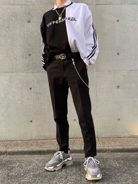 teuさんの「Balenciaga Triple S Mesh, Nubuck And Leather Sneakers(Balenciaga|