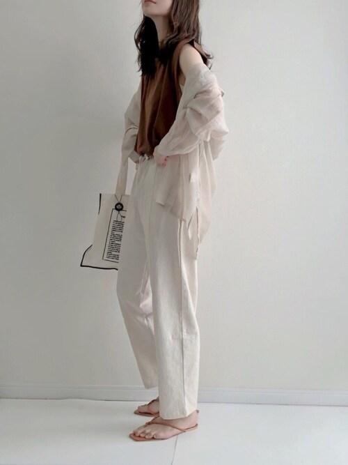 シアーシャツ ホワイト