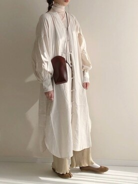 haru さんのTシャツ/カットソー「シアーウェーブカットソー(JUNOAH ジュノア)」を使ったコーディネート
