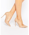 Aldo | ALDO Stessy Pale Pink Leather Heeled Pumps(Pumps)
