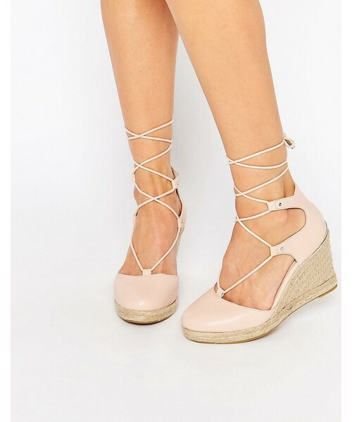 pale pink wedge sandals