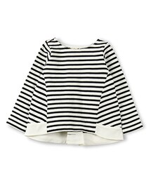5c7979736ef65 BRANSHES(ブランシェス)の「裾切替ボートネックボーダー長袖Tシャツ(T ...