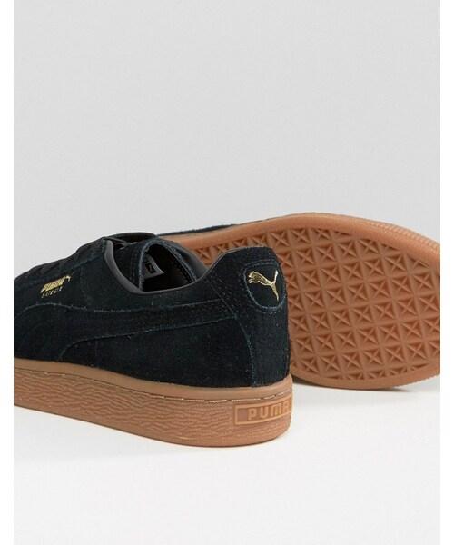 Puma,Puma Black Suede Classic Sneakers
