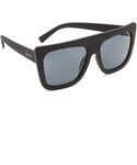 quay | Quay Cafe Racer Flat Top Sunglasses(Sunglasses)