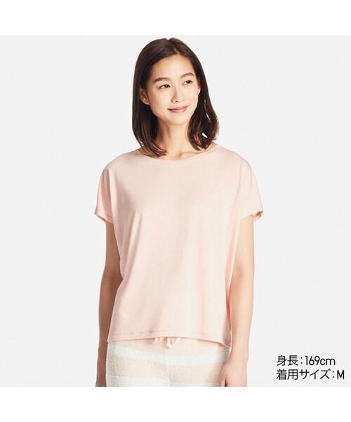 ユニクロ(ユニクロ)の「ドレープクルーネックT(半袖)(Tシャツ ...
