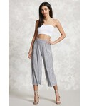 Forever 21 | FOREVER 21+ Metallic Pleated Culottes(Pants)