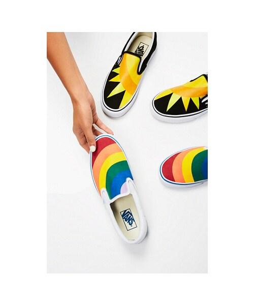 Rainbow Classic Slip On Sneaker by Vans