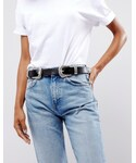 Asos | ASOS Leather Double Buckle Western Waist And Hip Belt(Belt)
