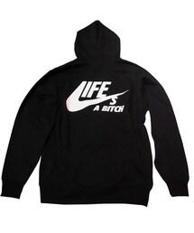 Back Print Nas Men/'s Tee Life/'s a Bitch