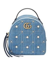 4251da81b47c Gucci - Ggマーモント デニムバックパック - women - コットン/パール/レザー/metal - ワンサイズ