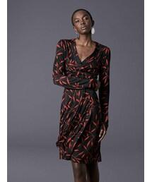 61c4c55d328 DIANE von FURSTENBERG,Julian Banded Silk Jersey Wrap Dress - WEAR